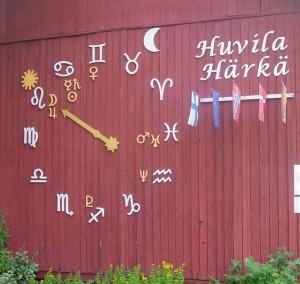 Huvila Härän astrologinen kello
