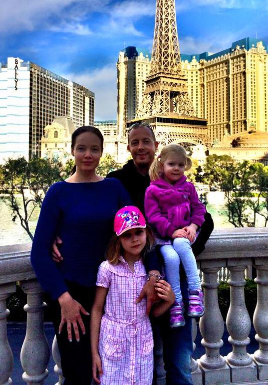 Perhepotretti Las Vegasista.