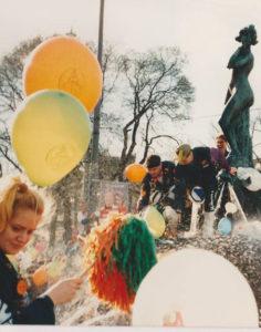 Opiskelijarientoja vappuna 1989.